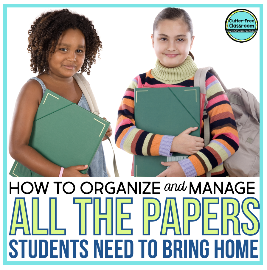 The home school connection between the teacher and families / parents is so important! Check out these tips on how to organize take home folders and student mailboxes filled with corrected work, notes to parents, and behavior charts in this blog post