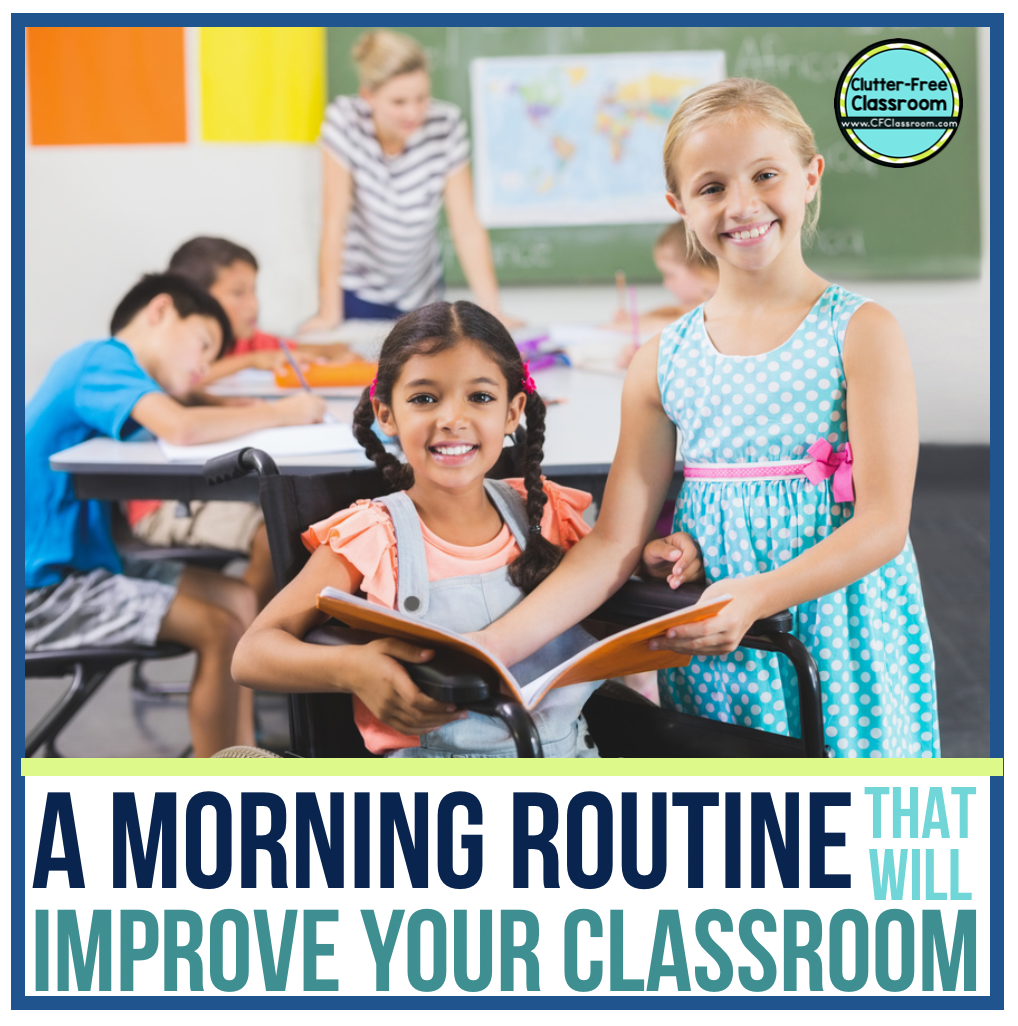 Are you looking for an easy elementary classroom morning routine that will make starting the school day fun? Try out these classroom management procedures, routines, strategies, techniques, and ideas from the Clutter Free Classroom for morning meeting in a responsive classroom, circle time, bell work, calendar, daily schedules, activities and more!