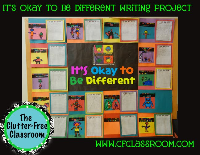 Elementary kids get creative with bullying prevention. It's OK to Be Different is a book by Todd Parr that teaches lessons to kids about being true to yourself and having self-confidence. These activities include reading, writing, art and computer skills and make a great bulletin board for first, second, third, and fourth grade classrooms.