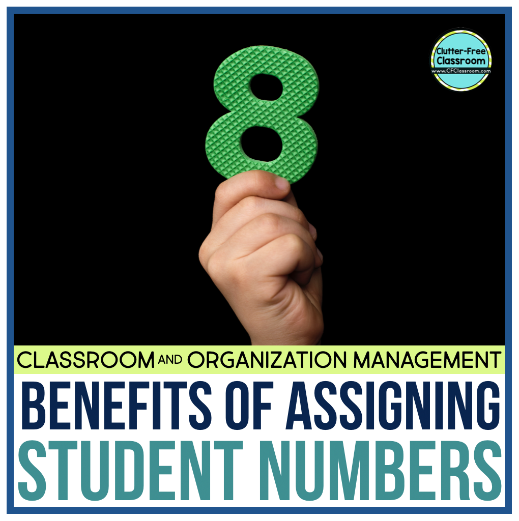 Assigning student numbers will promote classroom management, easy procedures, and elementary routines. Check out these ideas, strategies, and techniques from the Clutter Free Classroom.