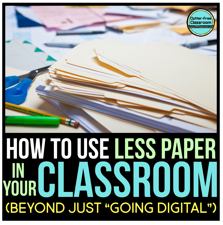 Go green and use less paper in your classroom! It Try out these simple strategies to make your classroom more eco-friendly.
