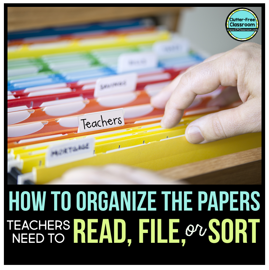 PAPER OVERLOAD! It's a problem all teachers face! Learn how to manage all of the paper that comes into your teacher mailbox by following a simple organization system.