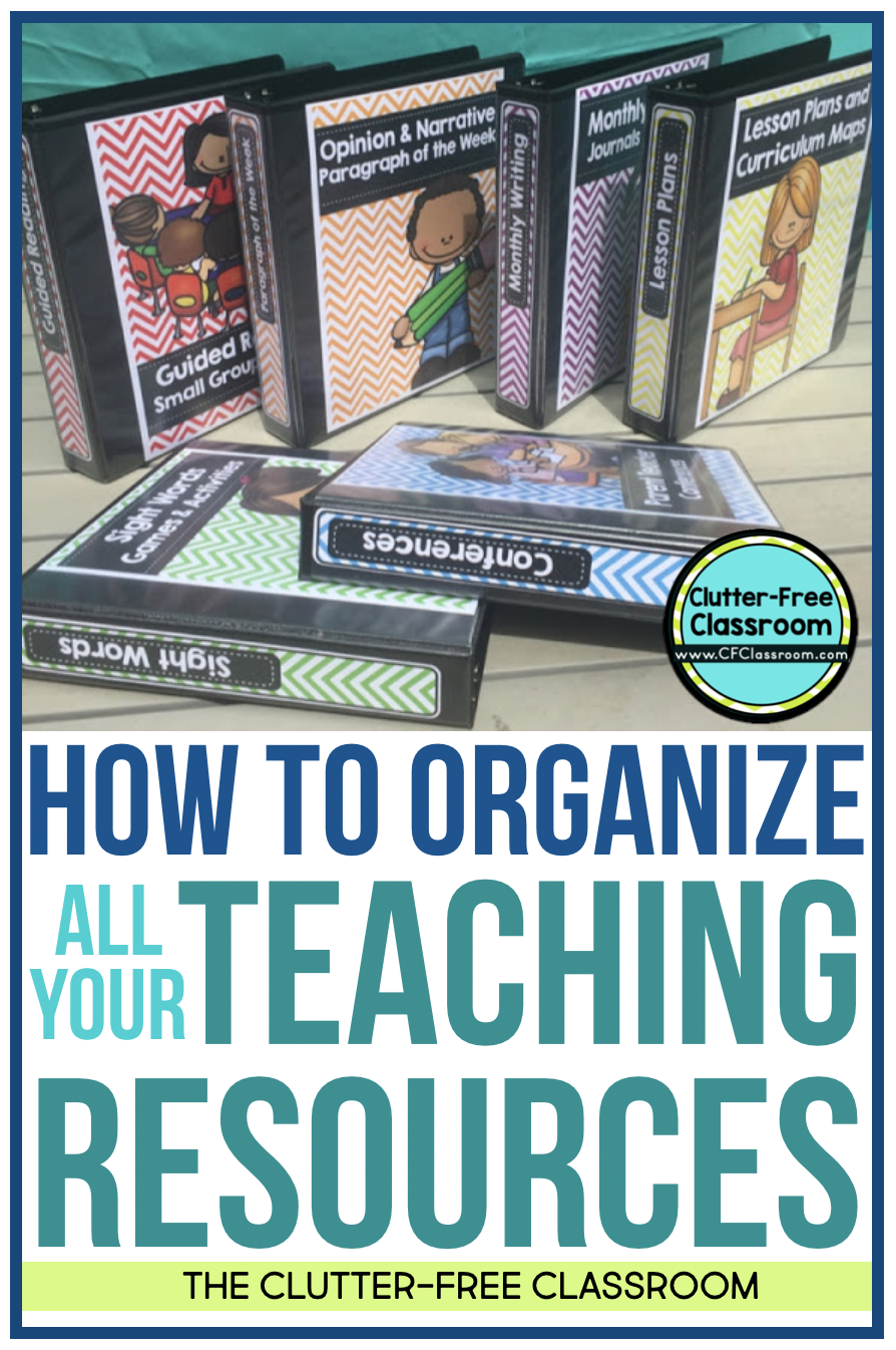 Do you have trouble organizing teacher resources and worksheets? If so, you NEED to check out my strategies for storing printables using binders, folders, and more! See this blog post to learn more.