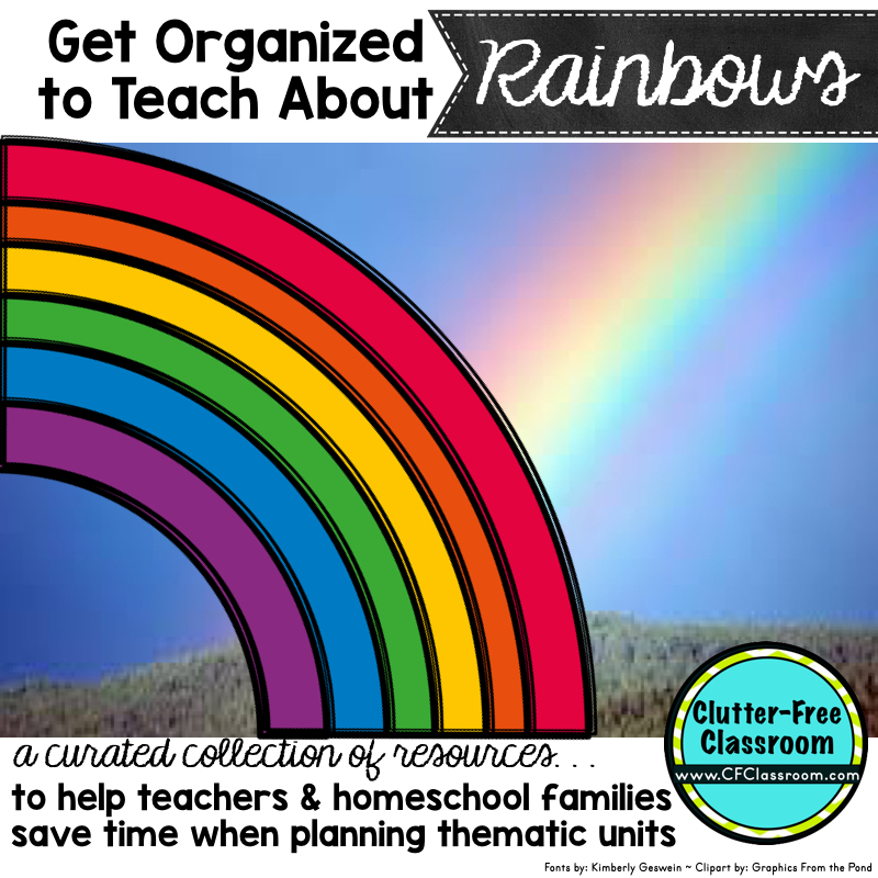 Are you teaching a thematic unit on rainbows? This has photos, crafts, lessons & activity ideas for math & writing, books & resources to complement thematic units on rainbows, colors, St. Patrick's Day, The Wizard of Oz and weather. Great for Kindergarten, 1st, 2nd, 3rd, 4th and 5th graders.