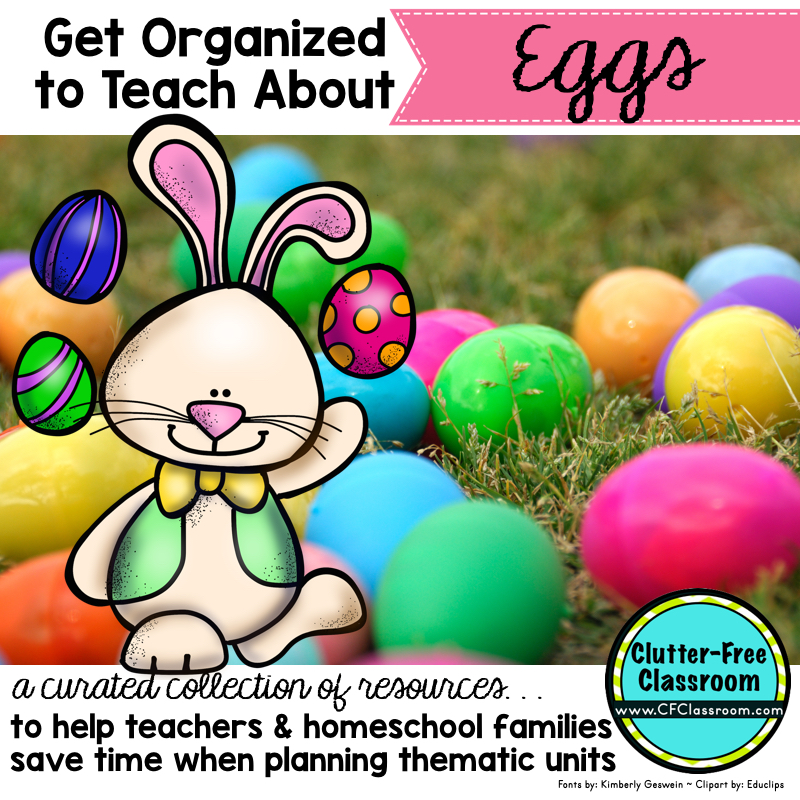 Are you looking for resources, ideas, books, and craft ideas to complement a eggs thematic unit? This will help teachers and homeschooling families get organized to teach about eggs.