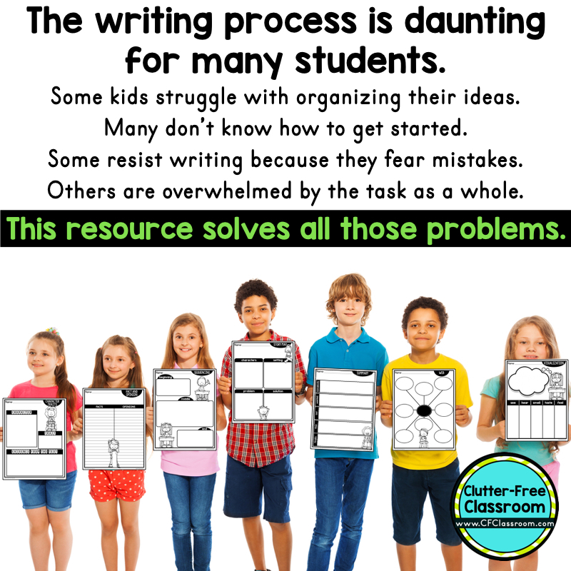 Would you like to improve your students' writing skills? Using graphic organizers for prewriting during the writing process will make it easier for students to organize their thinking and strengthen their writing abilities as well. This post explains how.