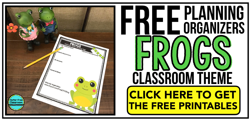 FROG Theme Classroom: If you're an elementary teacher who is thinking about a frog or pond theme then this classroom decor blog post is for you. It'll make decorating for back to school fun and easy. It's full of photos, tips, ideas, and free printables to plan and organize how you will set up your classroom and decorate your bulletin boards for the first day of school and beyond.