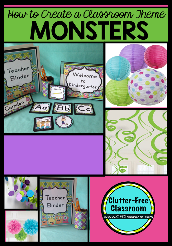 Are you planning a monsters themed classroom or thematic unit? This blog post provides great decoration tips and ideas for the best monsters theme yet! It has photos, ideas, supplies & printable classroom decor to will make set up easy and affordable. You can create a monsters theme on a budget!