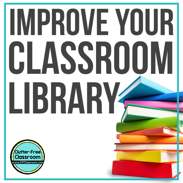 Get ready for your elementary classroom library organization during your classroom set up and design. Use baskets, bins, shelves, bookshelves to design a system based on genre, categories, reading level, or topic with simple labels. Get fun and easy classroom storage tips and ideas!  #classroomsetup #classroomdesign