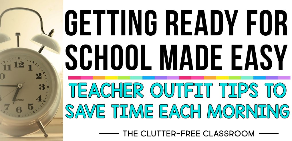 Teaching is hard enough! You don't need to be stressed out about what you're going to wear each day too. That's why this post about teacher wardrobe basics is so helpful. You'll get practical tips to organize your home closet, plus tips to help make getting ready for work each day a breeze. Make your work mornings a breeze with these ideas.
