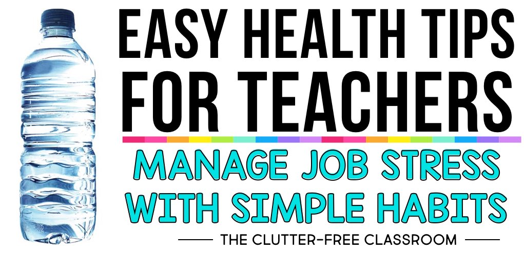 If you're looking to boost your overall wellness as an educator, you're going to love these teacher health tips. These are great ideas and reminders to help you become what makes you be the best teacher possible - YOU! In order for you to be at your best, you must keep your health and wellness at the forefront. Try them out today!