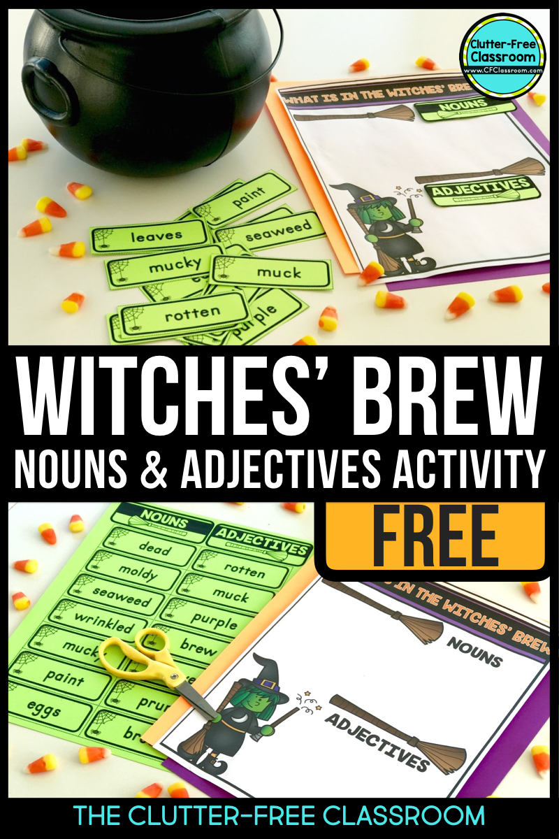 FREE Halloween activities for reading, math, and writing are included in this post. It links to 3 free resources for October perfect for first grade, second grade, third grade and fourth grade students.