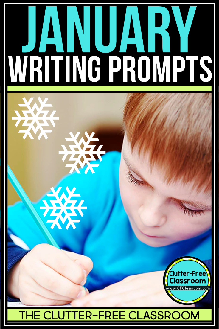January writing prompts and journal ideas for kids are a great way to get students writing. Teachers love how easy they are and how great the activities look on the classroom bulletin board. Students can use them for morning work, during writer's workshop, or as homework. They include story starters, thematic writing paper and writing task cards for narrative, persuasive, creative and informative writing.