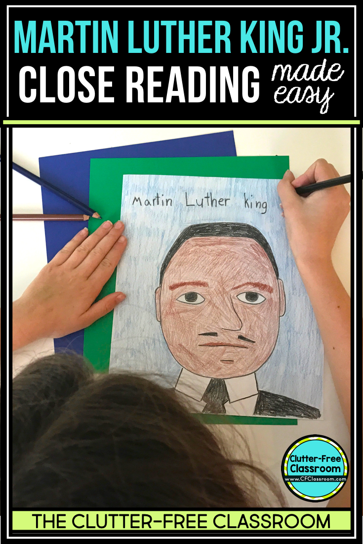 """A Martin Luther King Jr reading passage with reading comprehension activities is a great way for kids to learn about biographies, diversity, and beyond his """"I had a dream"""" speech. These crafts, books, bulletin boards, and ideas are perfect for second, third, fourth, and fifth grade students as well as homeschool too."""