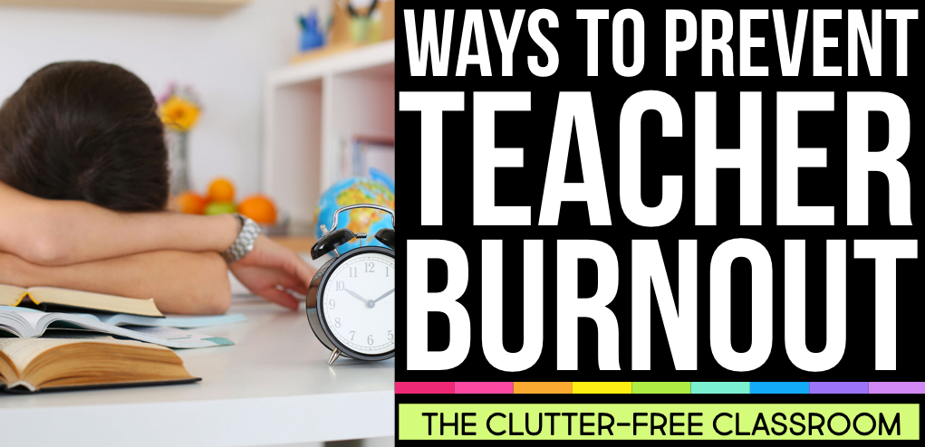 Teacher burnout, stress, anxiety and other health problems are a real problem. Learn the signs, symptoms and get tips and strategies to prevent teacher burnout in this post.