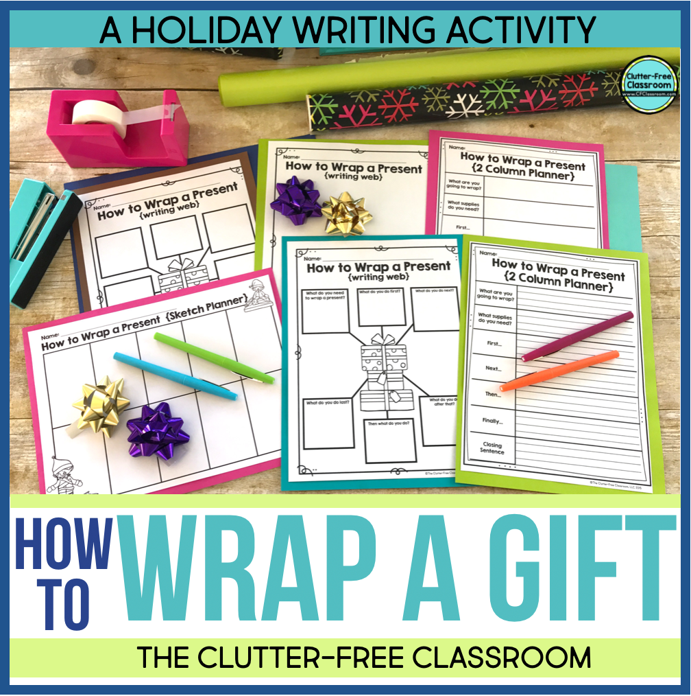 Check out this fun student holiday writing activity from the Clutter Free Classroom! It is filled with holiday ideas, differentiated prompts, holiday graphic organizers, holiday templates, holiday paper, and more! It will even make fun bulletin boards!