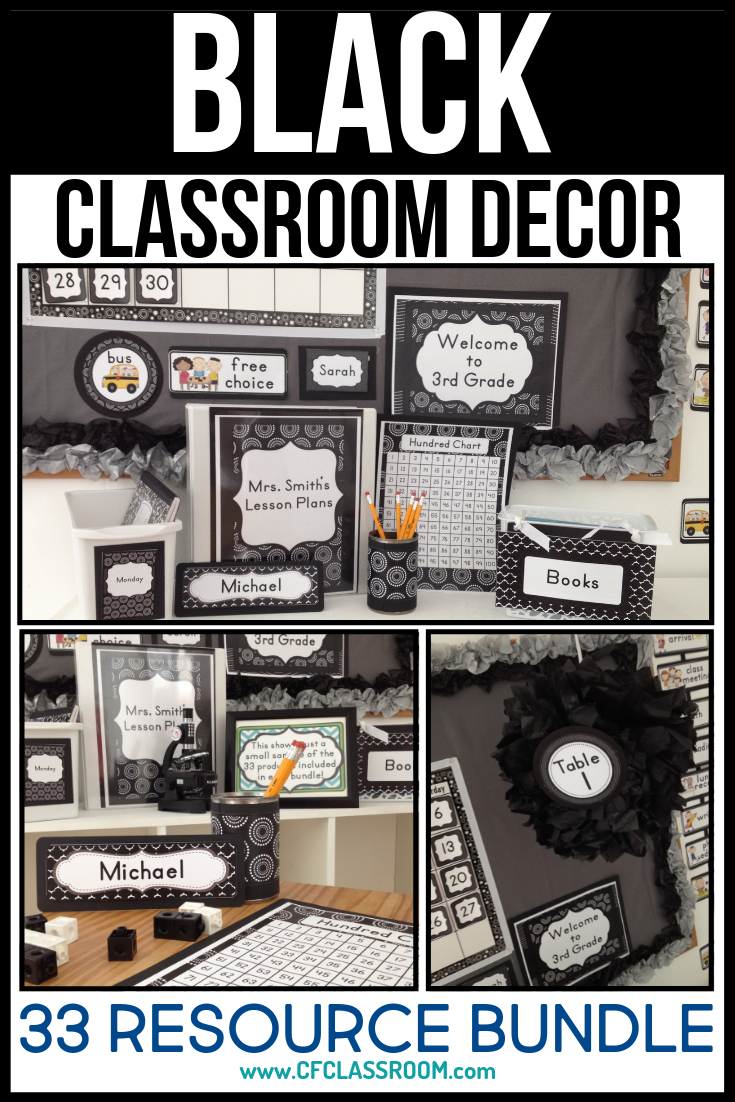 Black And White Classroom Decor Jodi Durgin Education Co