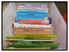 Grab tips and strategies for organizing and storing read aloud books including recommended organization tools. Learn how to track and catalog your read alouds too! Don't forget to grab the free elementary reading resource that includes seasonal children's book lists, reading logs, and reading challenges. Download it all here! #reading #classroomorganization #classroomorganizing