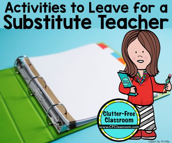 Learn how to plan for a sub, write substitute teacher plans & make a sub binder. These tips, ideas, photos & free printables explain how to plan, prepare & organize your classroom for a substitute teacher. It's perfect for Kindergatren, 1st grade, 2nd grade, 3rd grade, 4th grade & 5th grade.