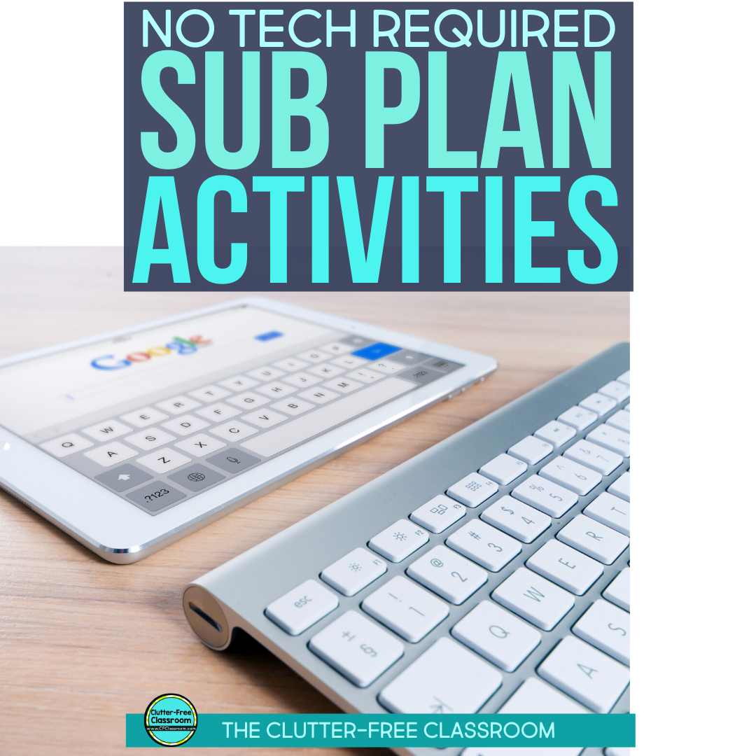 This blog post has so many ideas and tips for simple sub plans to leave during an emergency. The best part is they don't require worksheets or technology. I want to try some of the easy tips for reading, writing, and science activities the next time I take a sick day. You'll want to save these no prep ideas for yourself too! #subplans #sickday #teachertips
