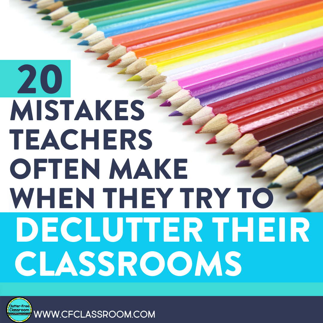 Decluttering your elementary classroom is not easy. If it were, all teachers would have an organized classroom. Get tips, ideas, hacks, and advice from the expert: Clutter-Free Classroom. She is the classroom organization guru you always wanted. Read her blog post here to help you during your decluttering challenges! #clutterfreeclassroom #classroomorganization #organization