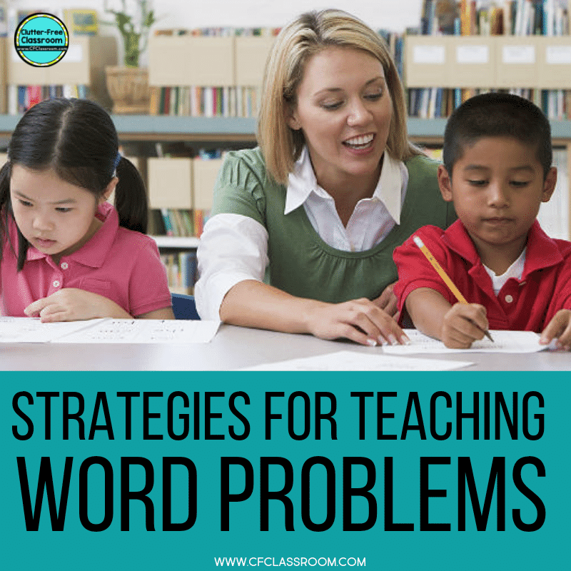 Check out this blog post offering ideas and strategies for teaching math word problems! This is helpful for 1st, 2nd, 2rd, 4th, and 5th grade classroom teachers. Make teaching and solving word problems fun and easy for elementary students! #wordproblems #mathwordproblems #teachingideas #teachingstrategies #elementarymath #realworldmath