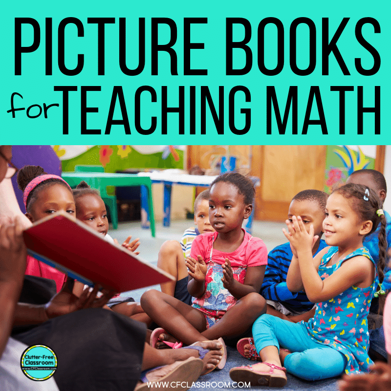 Grab this book list for children's picture books that can help you teach math concepts and skills. A great way to use this literature is to introduce a mathematics topic at the beginning of a unit. Your elementary students will love these fun books!  #childrenslit $childrensliterature #picturebooks #mathbooks #teachingmath #elementarymath