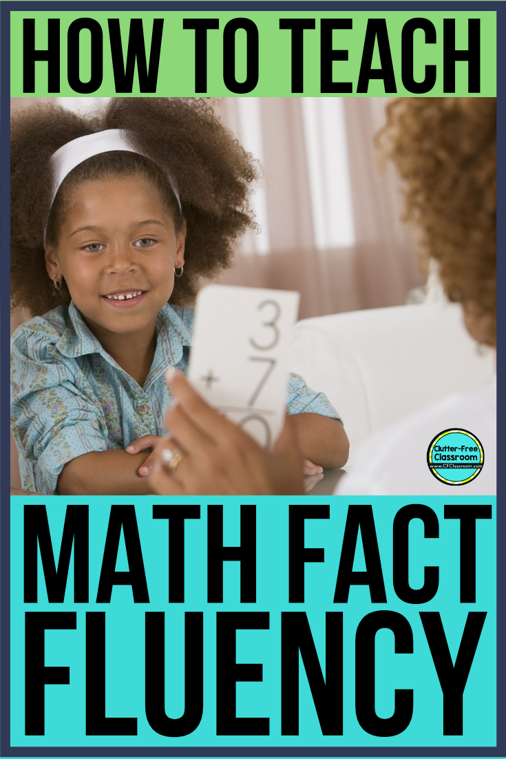 Math fact fluency for elementary students has the most misconceptions surrounding it than any other math topic. Mastering addition, subtraction, multiplication, and division math facts is essential in order for students to be able to complete complex math problems in the future. Learn how to teach these skills and when by reading this blog post! #mathfacts #mathfactfluency #factfluency
