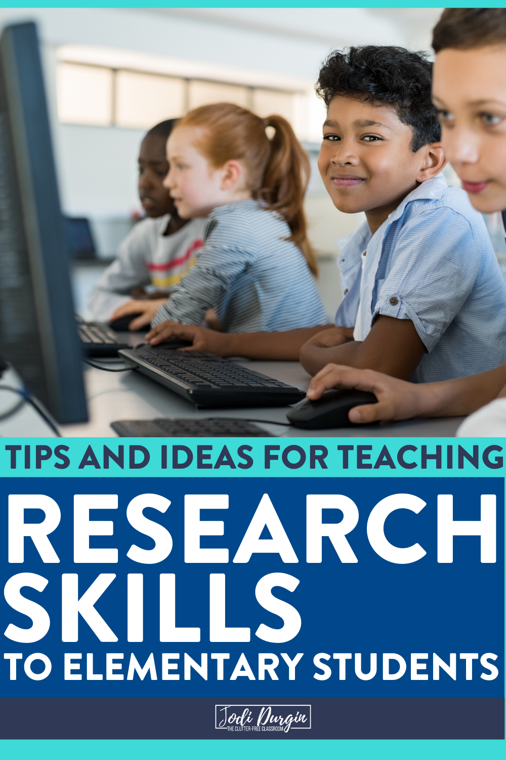 Learn how to teach research skills to your elementary students from this Clutter-Free Classroom blog post written for first, second, third, fourth, and fifth grade teachers. It's packed with lesson and project ideas to help you start your planning. Check it out now! #elementaryclassroom #researchskills #elementaryresearchskills