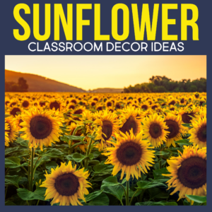 sunflower classroom decor ideas