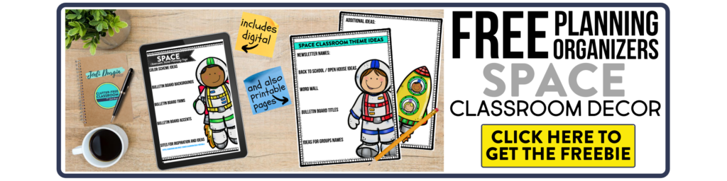 Space Classroom Theme Ideas Clutter Free Classroom By Jodi Durgin