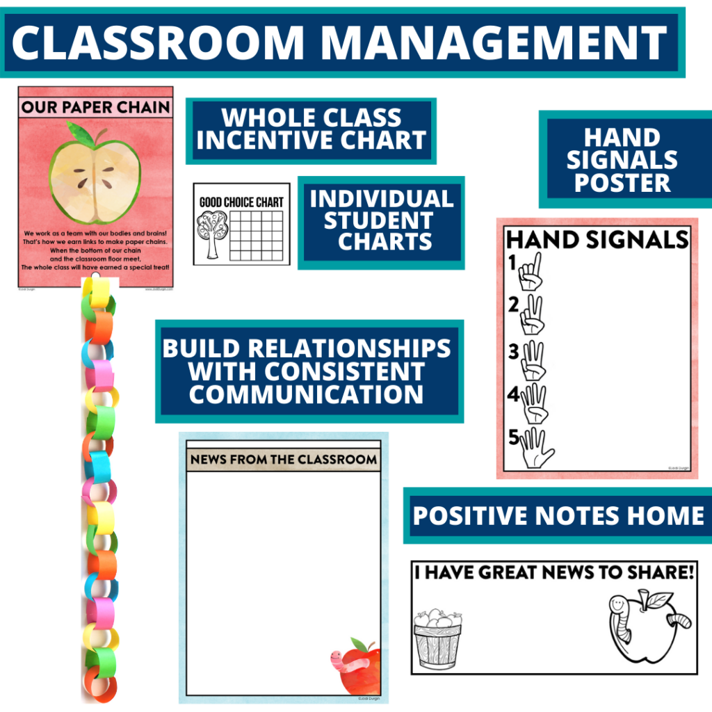 apple themed tools for improving student behavior in an elementary classroom