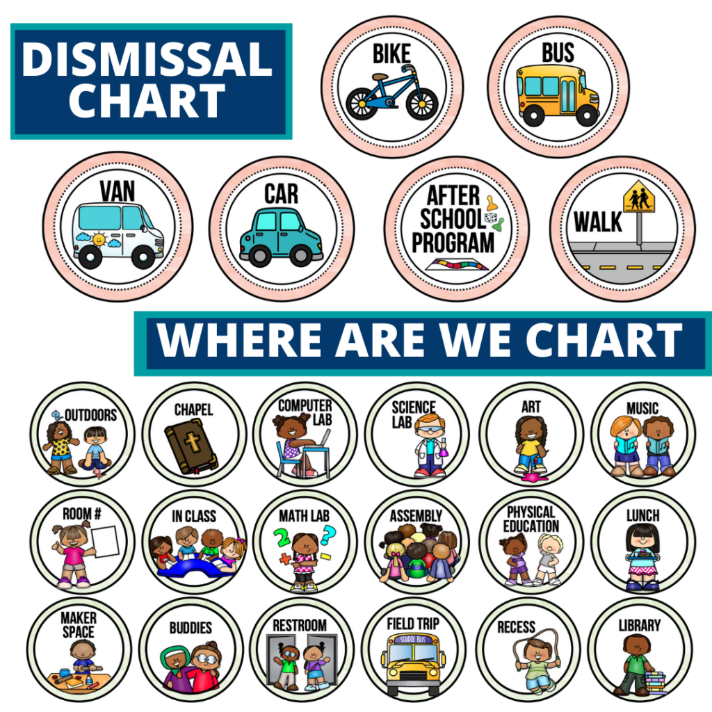 Around the World theme editable dismissal chart for elementary classrooms with for better classroom