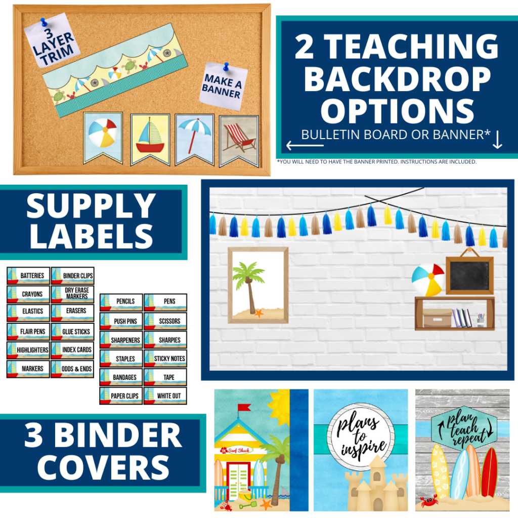 beach themed background for a cheap and easy online teaching or a VIP kid backdrop