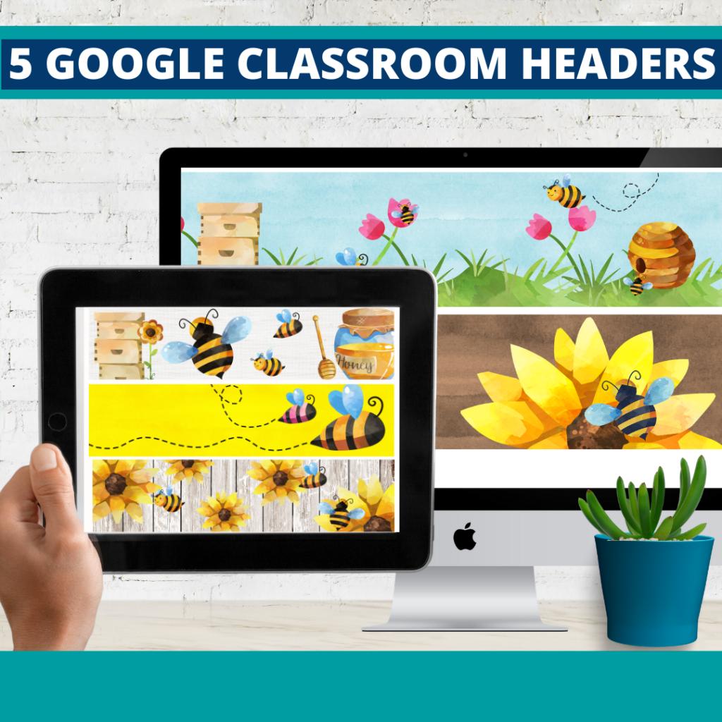 bee classroom themed google classroom headers and google classroom banners