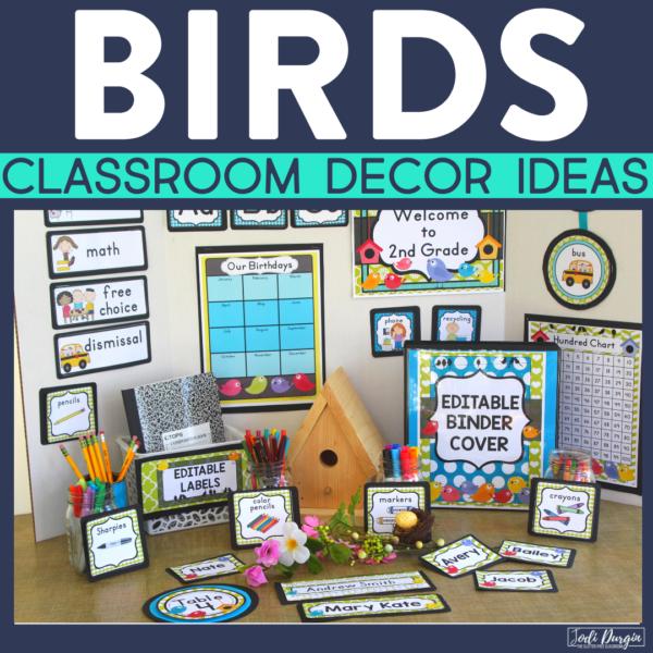 bird classroom decor ideas