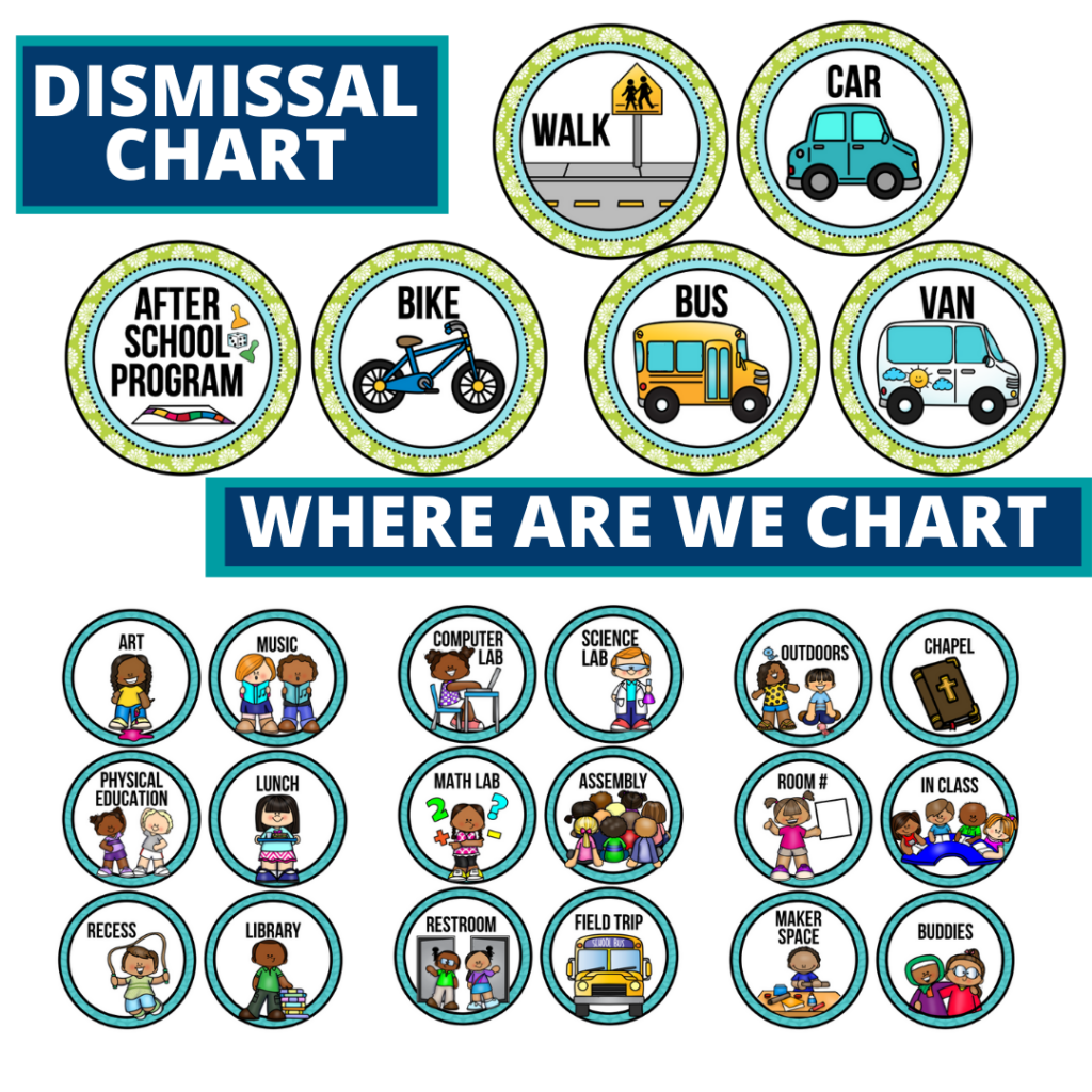 birds theme editable dismissal chart for elementary classrooms with for better classroom