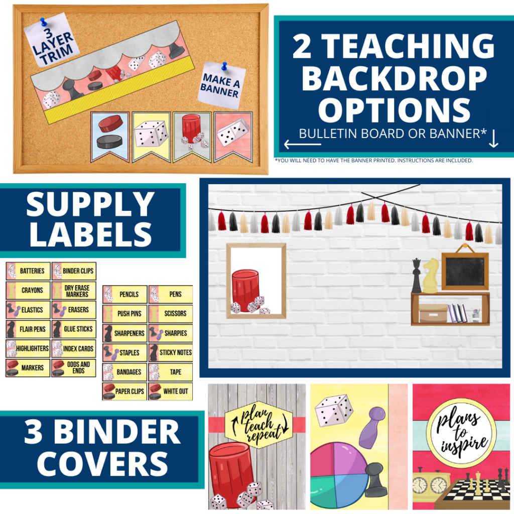 board games themed background for a cheap and easy online teaching or a VIP kid backdrop