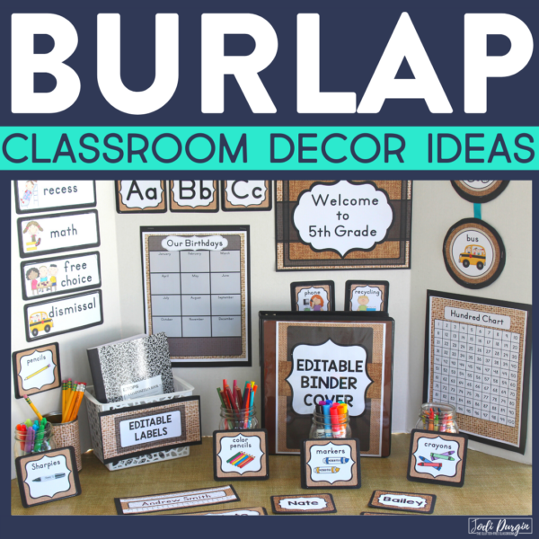 burlap classroom decor ideas
