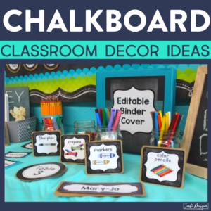 chalkboard classroom decor ideas