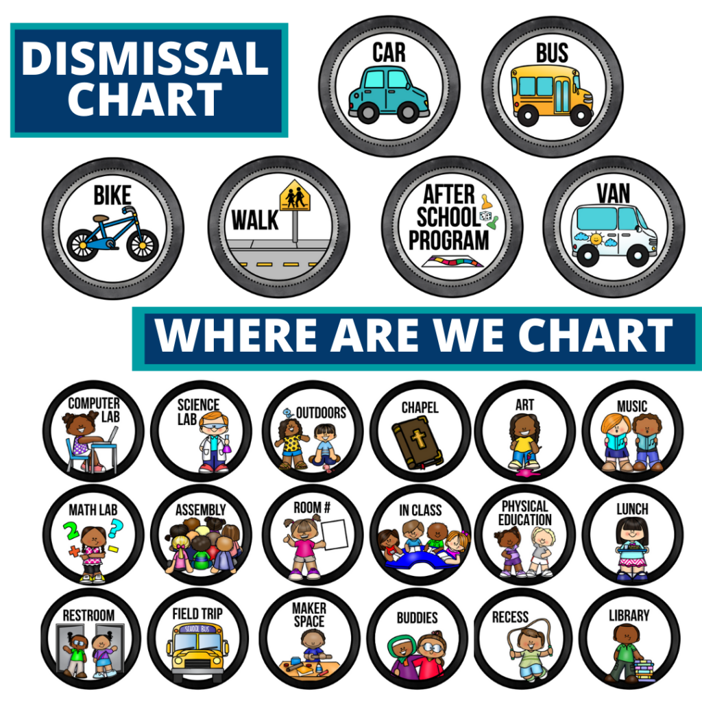 chalkboard theme editable dismissal chart for elementary classrooms with for better classroom