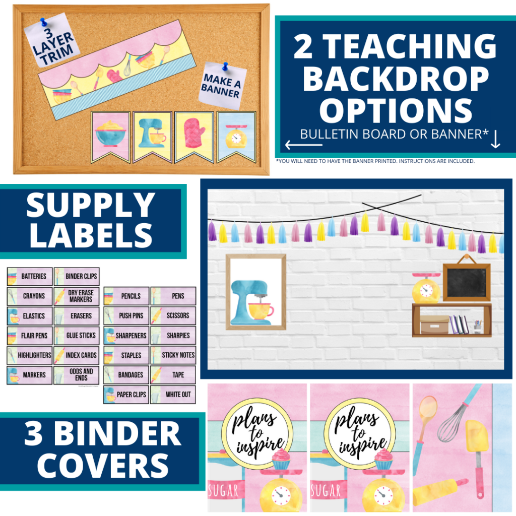 cooking themed background for a cheap and easy online teaching or a VIP kid backdrop