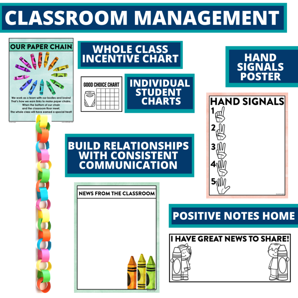 crayons themed tools for improving student behavior in an elementary classroom