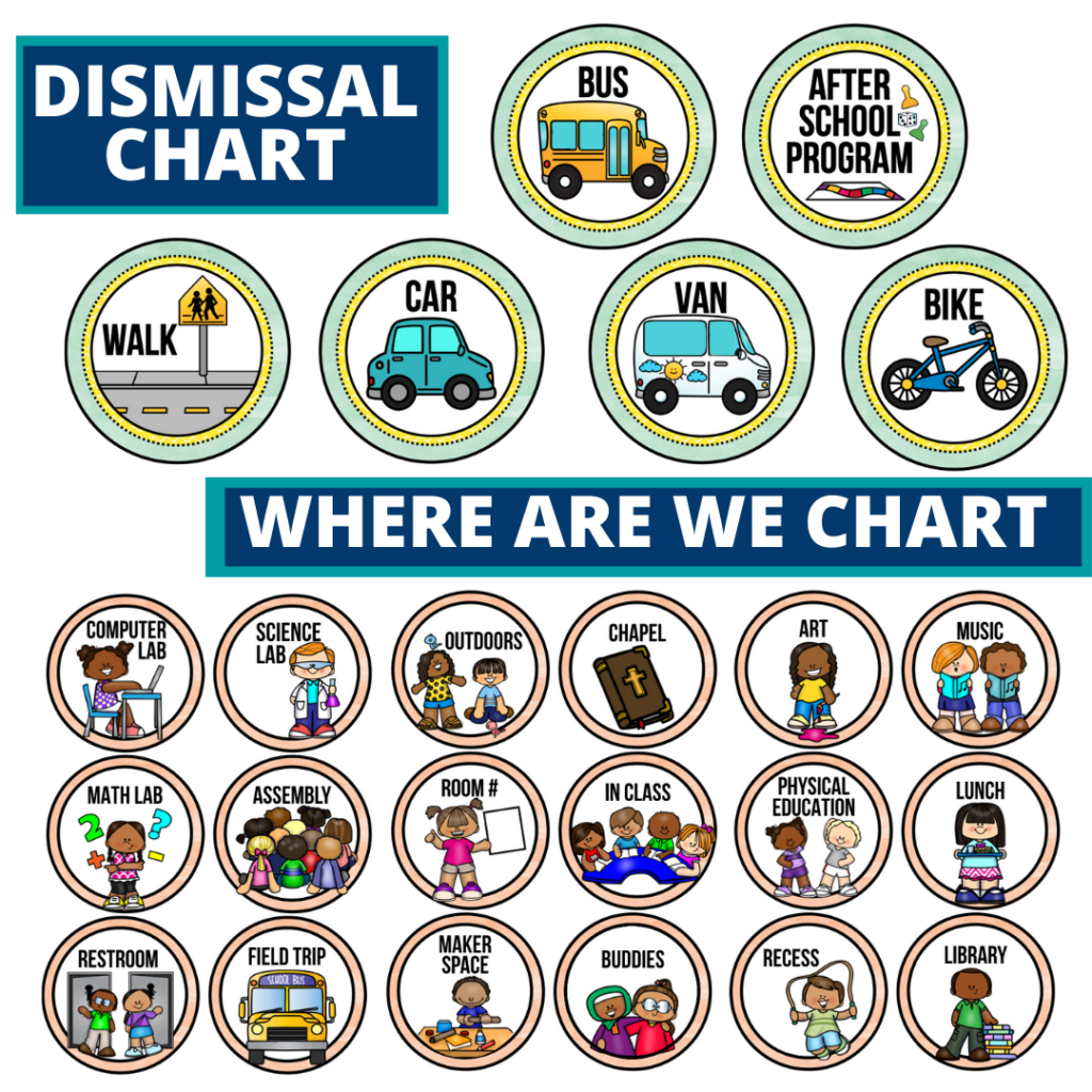 cupcakes theme editable dismissal chart for elementary classrooms with for better classroom