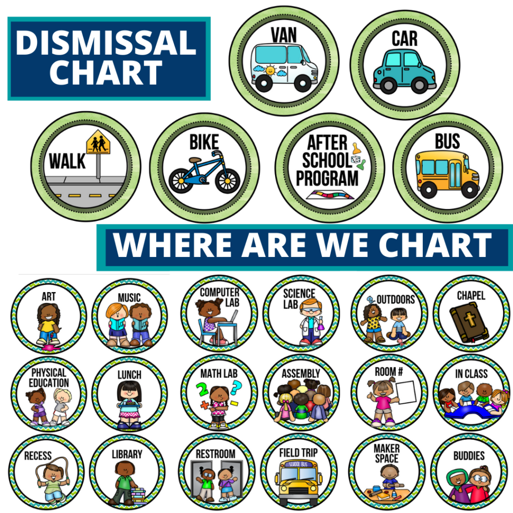 dinosaurs theme editable dismissal chart for elementary classrooms with for better classroom