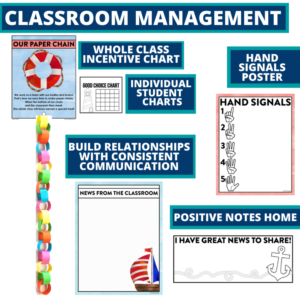 nautical themed tools for improving student behavior in an elementary classroom