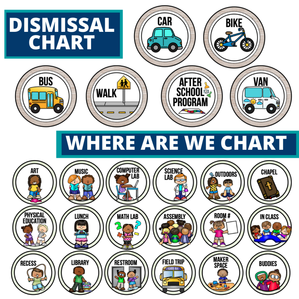 eucalyptus theme editable dismissal chart for elementary classrooms with for better classroom