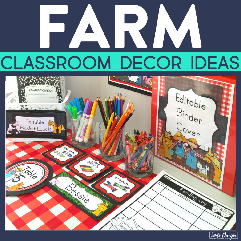 Farm Classroom Theme Ideas Jodi Durgin Education Co