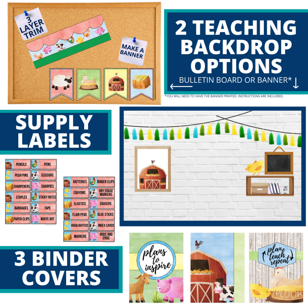 farm themed background for a cheap and easy online teaching or a VIP kid backdrop