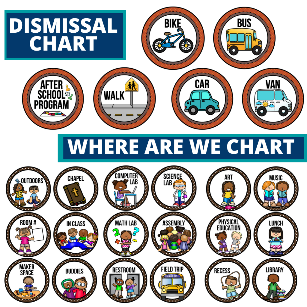 fox theme editable dismissal chart for elementary classrooms with for better classroom